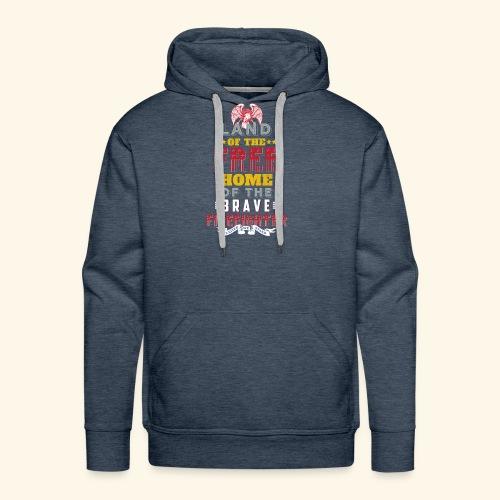 Patriotic Firefighter / American Firefighter - Men's Premium Hoodie