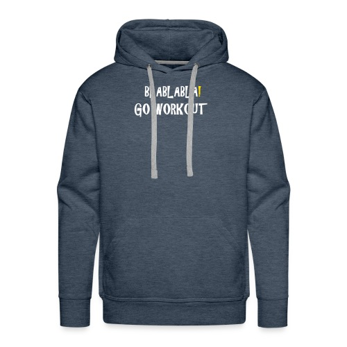 go workout dark tee - Men's Premium Hoodie