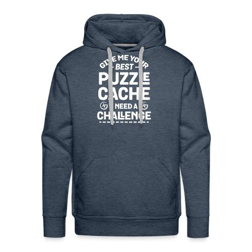 Best Puzzle Cache I Need A Challenge Geocache - Men's Premium Hoodie
