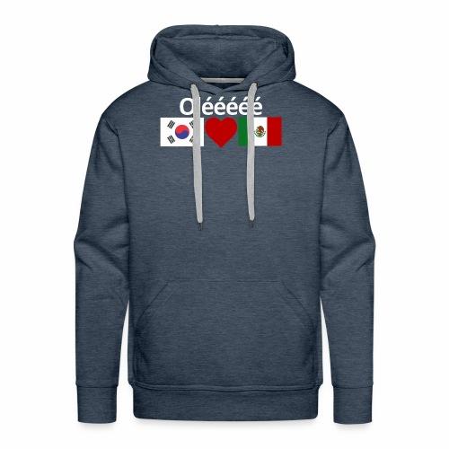 Mexico Soccer Jersey Shirt Mexico and Korea flag - Men's Premium Hoodie