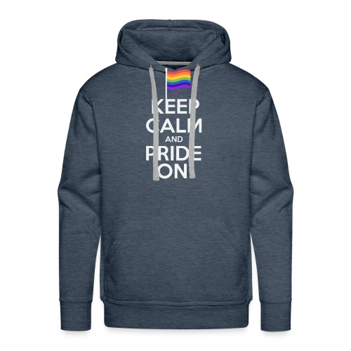 Keep calm and Pride On LGBT Shirt - Men's Premium Hoodie