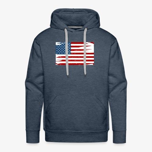 Bandera del Día de la Independencia de los Estados - Men's Premium Hoodie