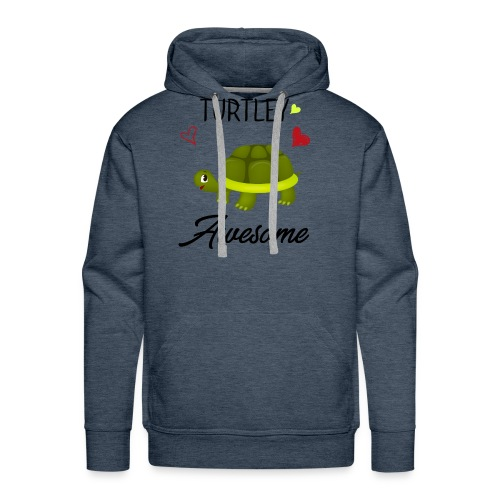 Turtley Awesome - Funny Turtley Cute - Love gift - Men's Premium Hoodie