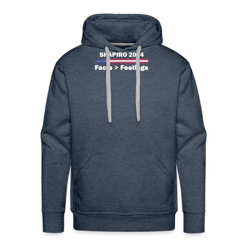 Ben Shapiro 2024 Facts More Than Feelings T Shirt - Men's Premium Hoodie