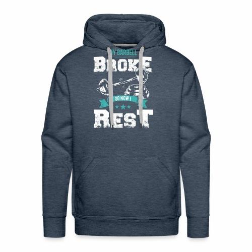 Barbell Broke - Men's Premium Hoodie