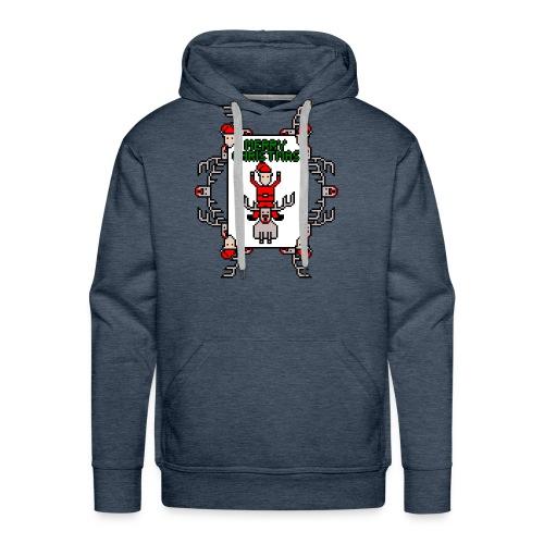 Merry Christmas Santa and Rudolph - Men's Premium Hoodie