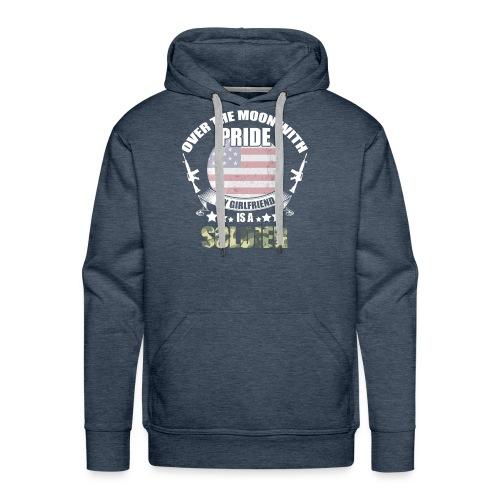 Great Gift For Soldier Girlfriend. Shirt From men - Men's Premium Hoodie