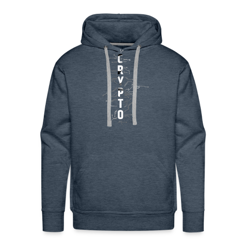 Cryptocurrency t-shirt. Digital blockchain design - Men's Premium Hoodie