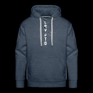 Cryptocurrency t-shirt. Digital blockchain design - Men's Premium Hoodie