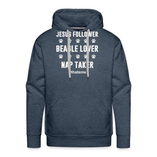 Jesus follower Beagle lover nap taker - Men's Premium Hoodie