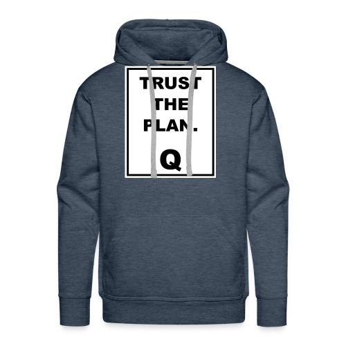 Trust The Plan Q - Men's Premium Hoodie