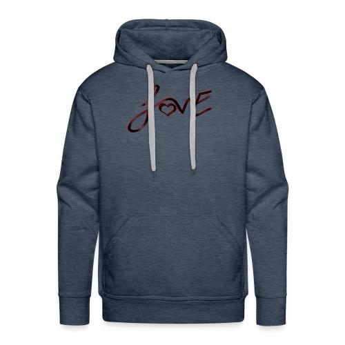 Love is Life - Men's Premium Hoodie
