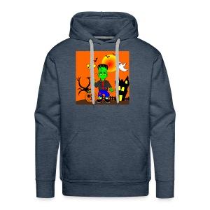 Halloween Frankenstein s Monster - Men's Premium Hoodie