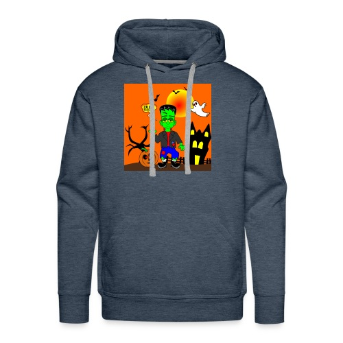 Halloween Frankenstein s Monster - Men's Premium Hoodie