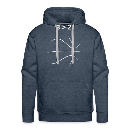 3 > 2 Basketball - Men's Premium Hoodie