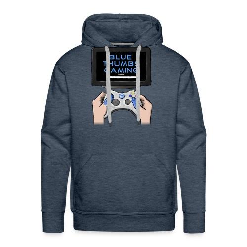 Blue Thumbs Gaming: Gamepad Logo - Men's Premium Hoodie