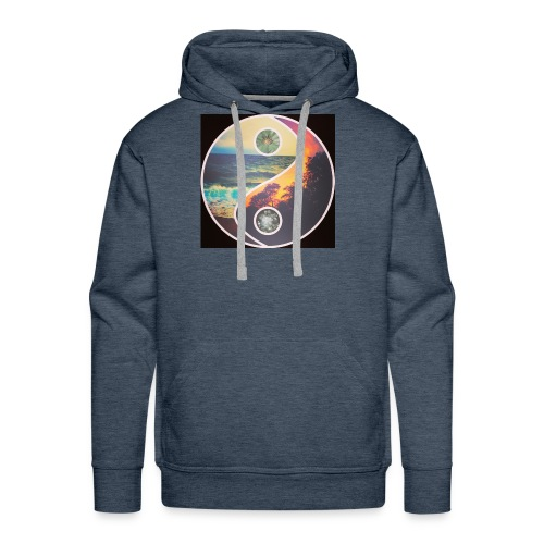 Shows quietness and most importantly peace vibes - Men's Premium Hoodie