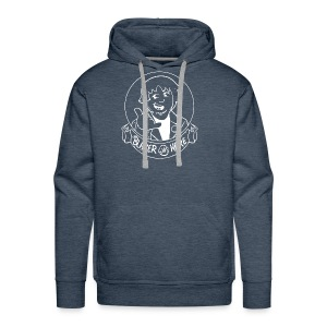 Blazer Was Here Logo WHITE - Men's Premium Hoodie