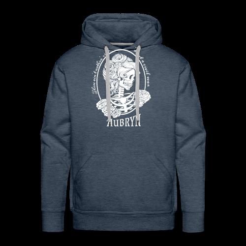 Nothin' Civil White Rose Skeleton - Men's Premium Hoodie