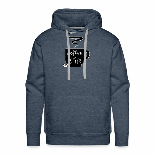Coffee Is Life Shirt - Men's Premium Hoodie