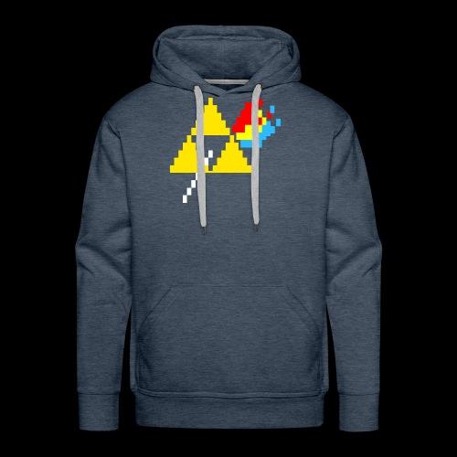 the dark side of the Triforce pixel - Men's Premium Hoodie