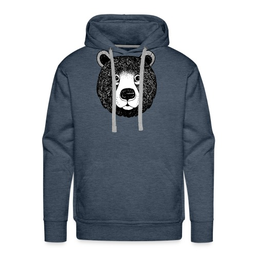 The head of bear - Men's Premium Hoodie