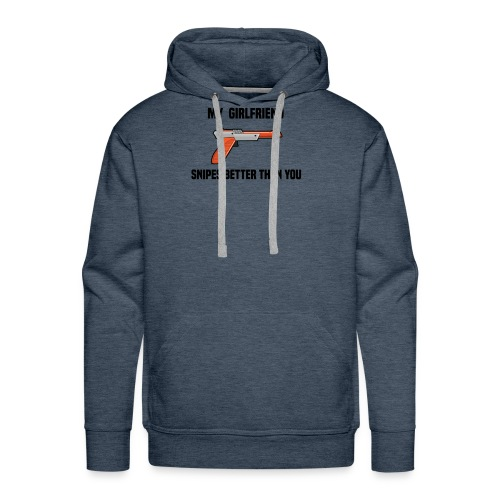 Girlfriend Snipes Better T-Shirt. Retro Gaming - Men's Premium Hoodie