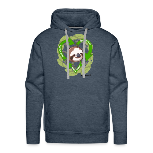 Save a Sloth, Save a Tree, Save the Forest - Men's Premium Hoodie