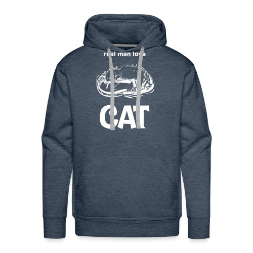 Real Man Love Cat - Men's Premium Hoodie