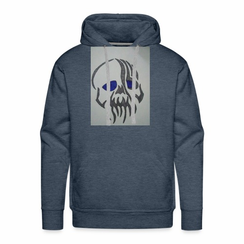 Blue Eyed Skull - Men's Premium Hoodie