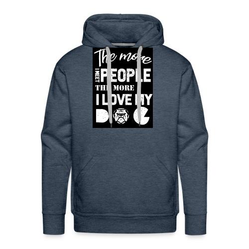 Dog owner T shirt - Men's Premium Hoodie