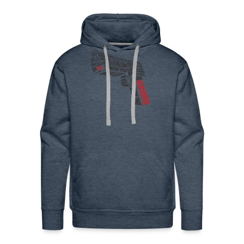 weapon with text - Men's Premium Hoodie