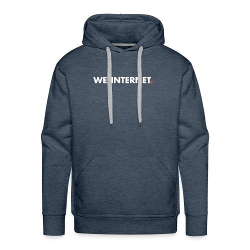 Classic WTI logo in white - Men's Premium Hoodie