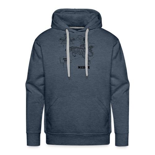 MEDEX anion gap in black print - Men's Premium Hoodie