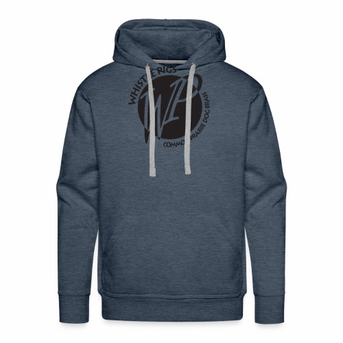 Whistle Pigs initial circle logo - Men's Premium Hoodie