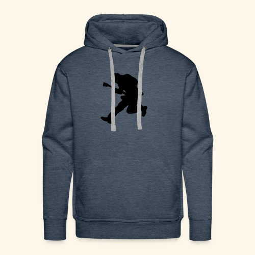 Rock God silhouette - Men's Premium Hoodie