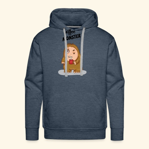 COFFEE MONSTER - Men's Premium Hoodie