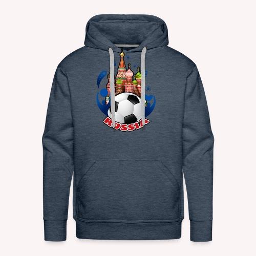 001 Russian buildings and ball - Men's Premium Hoodie