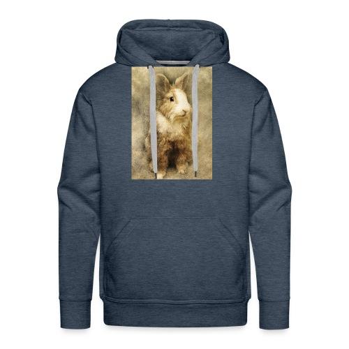 Rabbit portrait 1 - Men's Premium Hoodie