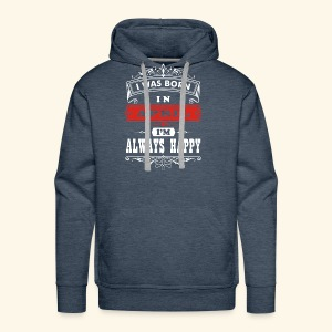 I Was Born in April, I'm Always Happy - Men's Premium Hoodie