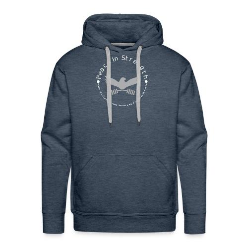 Peace_In_Strength_Grey_whiteLetter - Men's Premium Hoodie