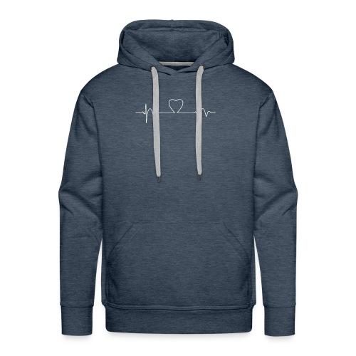 Heart Beat T-Shirt - Men's Premium Hoodie