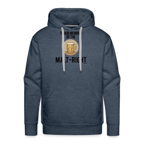 MALT-RIGHT BROWN BACKGROUND - Men's Premium Hoodie
