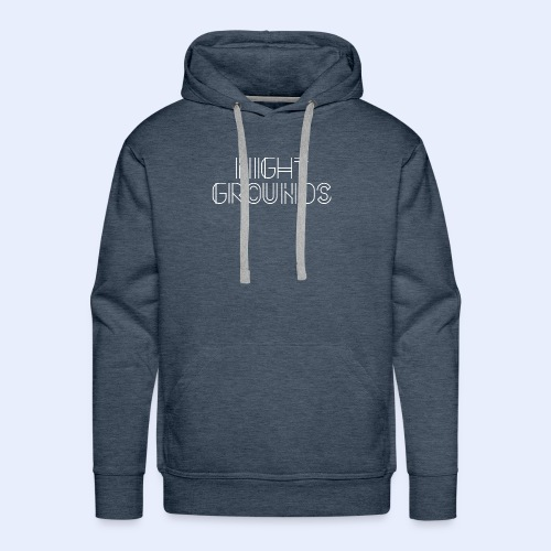 White NightGrounds Title - Men's Premium Hoodie