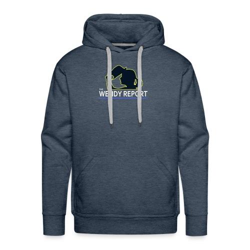 The Wendy Report Logo - White - Men's Premium Hoodie
