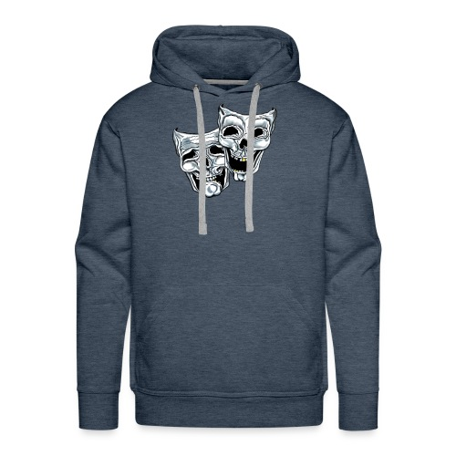 COMEDY TRAGEDY SKULLS - Men's Premium Hoodie