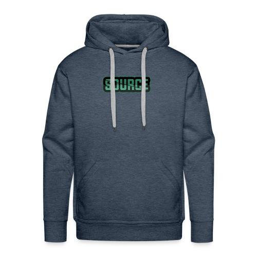 Green and Black Source Logo - Men's Premium Hoodie