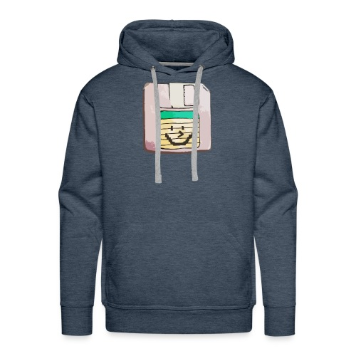 smiley floppy disk - Men's Premium Hoodie