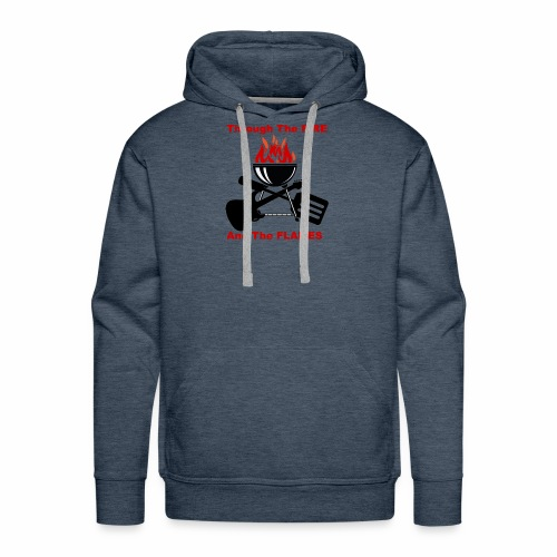 Fire and Flames BBQ - Men's Premium Hoodie
