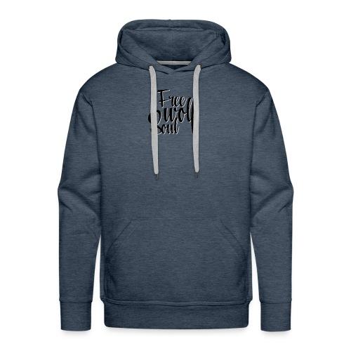 Logotype - Free Wolf Soul - Men's Premium Hoodie